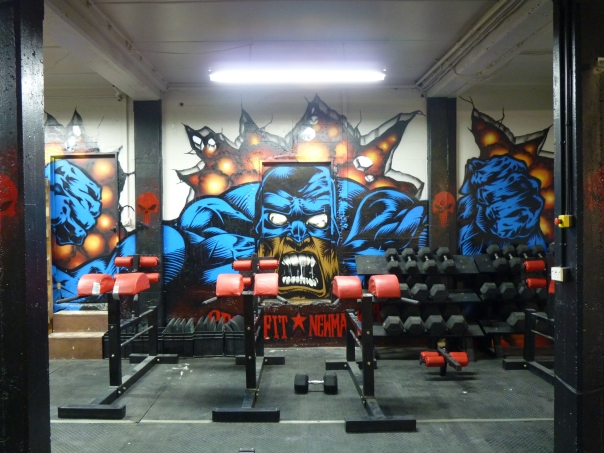 CrossFit New Market's back wall